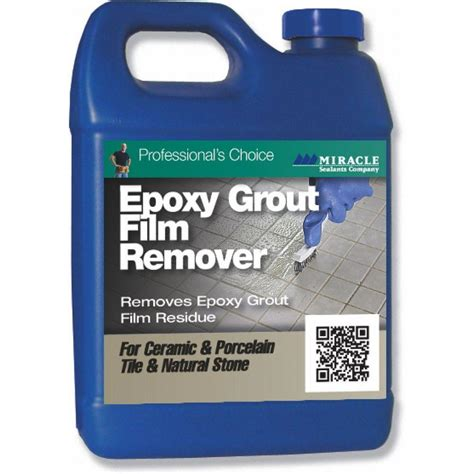 grout remover miracle sealants 32 oz epoxy grout film remover epo rem qt sg the home depot