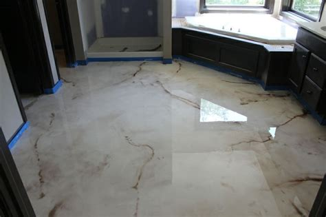 Epoxy Bathroom Floor by Sbr Concrete Bedford Hts Ohio Reflector Enhancer Metallic