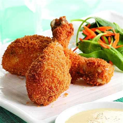 chicken drumsticks crispy baked drumsticks with honey mustard sauce recipe eatingwell