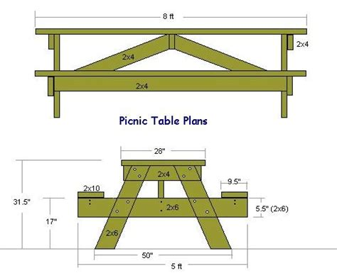picnic table plans  metric valliew picnic table