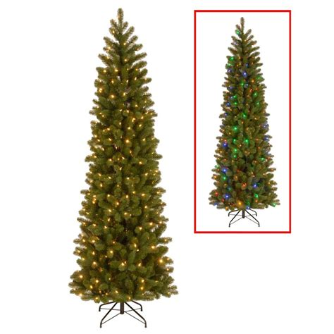 national tree company 7 5 ft downswept douglas pencil slim fir artificial christmas tree with