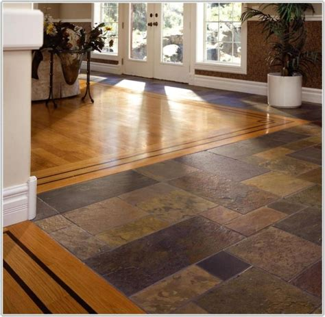 tile and wood floor combination photos home flooring ideas