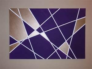 Wall Art Ideas Design : Purple Rectangle Geometric Wall ...