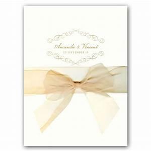 Elegant scroll ecru folded wedding invitations paperstyle for Fancy folded wedding invitations