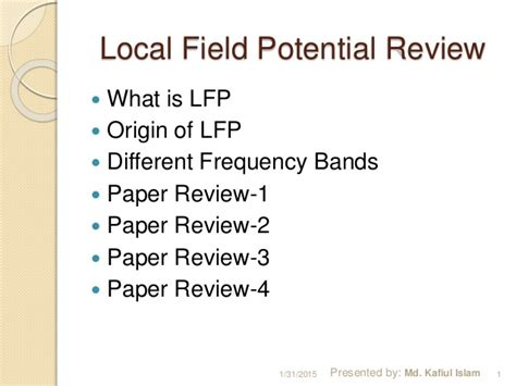 local field potential lfp literature review