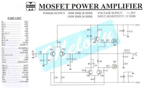 mosfet amplifier circuit electronics projects circuits