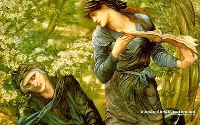 Burne Jones Edward Raphaelite Pre Last Merlin