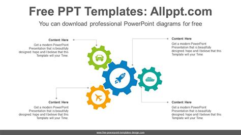 gears powerpoint diagram template