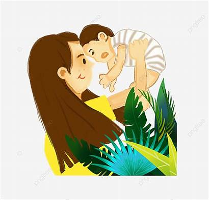 Mother Mom Son Holding Child Creative Clipart