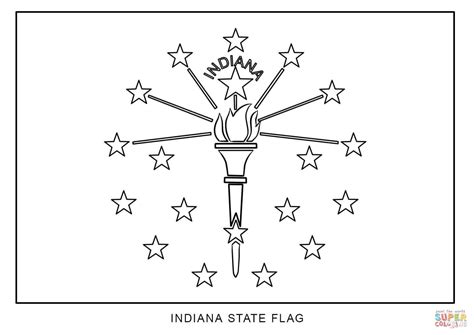 Flag Of Indiana Coloring Page Free Printable Coloring Pages
