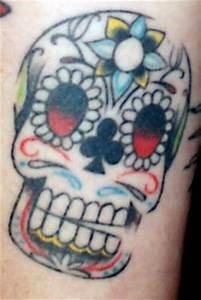 Girly Sugar Skull Design Girly Skull Tattoos