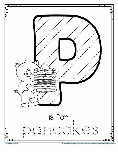 Pancake Printable Letter Trace Preschool Worksheets Sheets