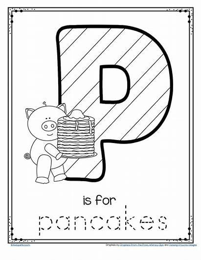 Pancake Printable Letter Trace Preschool Worksheets Sheets