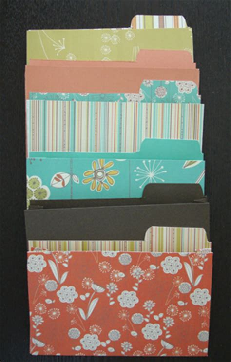 mini file folders  scrap booking