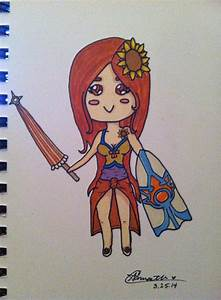 Pool Party Leona Chibi by LadyMarkov on DeviantArt