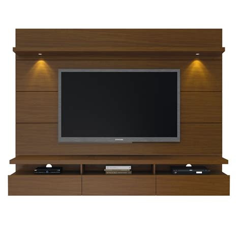 floating entertainment center cabrini 2 2 floating wall theater entertainment center in nut brown
