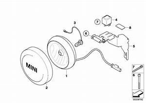 Mini Cooper Additional Headlight  Chrom