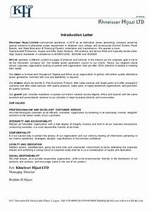 introduction letter With letter fabrication