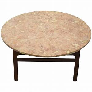 pink marble coffee table by jens risom circa 1960 With pink marble coffee table