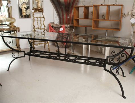 wrought iron and glass dining table wrought iron dining table with glass top at 1stdibs