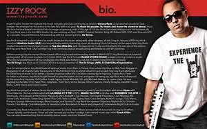 new works dj izzy rock r one creative web graphic With dj biography template