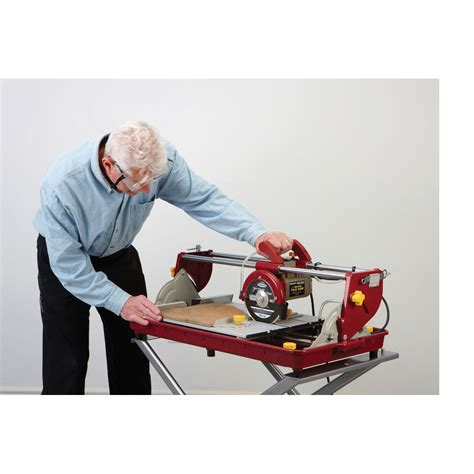 chicago electric tile saw 7 7 in 1 5 hp bridge tile saw
