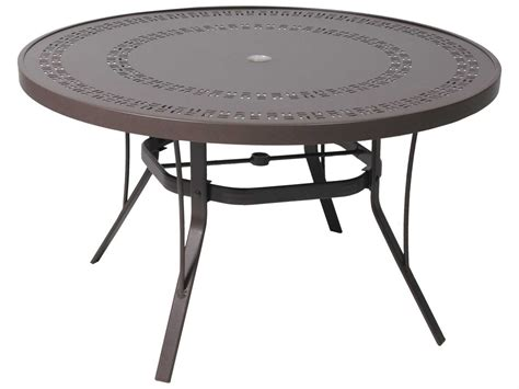 table with umbrella hole suncoast patterned square aluminum 42 39 39 round metal coffee