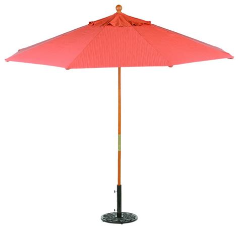 9 sunbrella market umbrella in dupione papaya modern