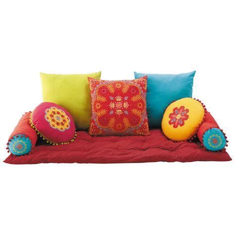 coussins matelas en coton multicolore roulotte maisons du monde
