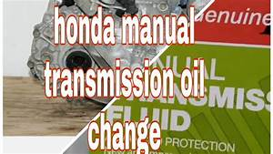How To Change Your Honda Civic Manual Transmission Fluid