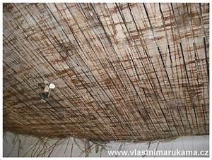 Rákosový strop oprava