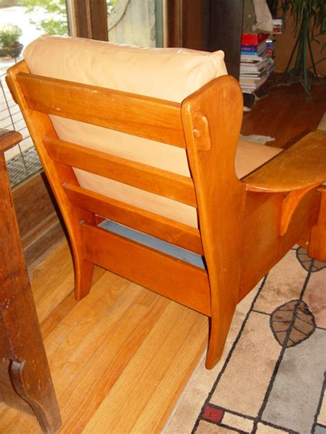 rare club chair  paddle arms lodge cabin camp