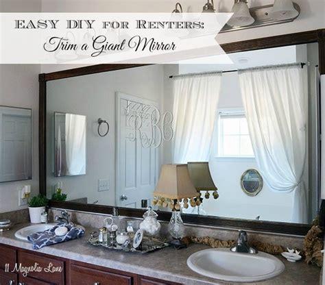 Ideas Around A Mirror by Easy Diy Tutorial Adding Trim Around A Mirror For