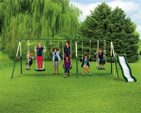 sportspower adventure play ii metal swing set