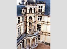 Photographie d'un escalier extérieur du château de Chambord