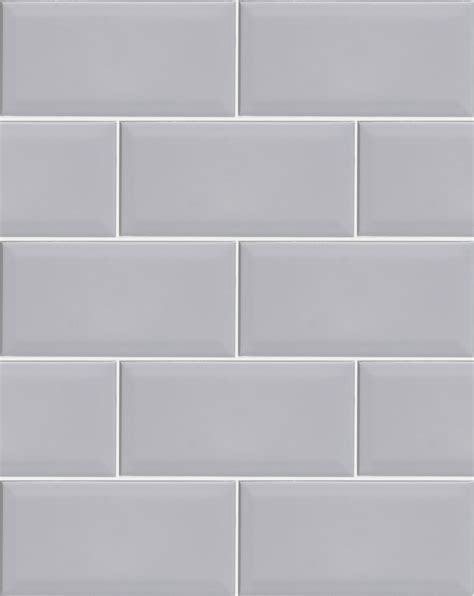 Traditional Kitchen Design Ideas - metro light grey wall tile bathroom tiles direct