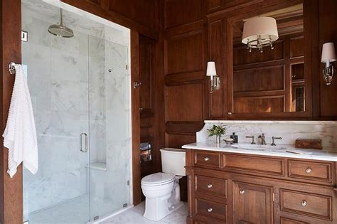 paneled master bathroom transitional bathroom