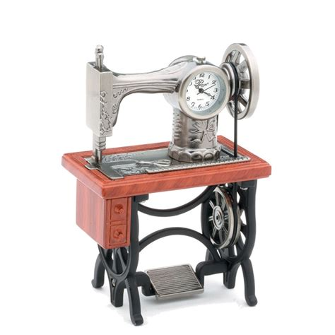 old fashioned table ls old fashioned sewing machine clock with wood look table