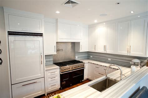 striped marble contemporary kitchen doryn wallach