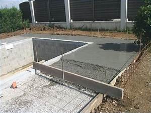 Comment Faire Une Dalle : formidable dalle autour piscine comment faire une dalle beton autour piscine ~ Farleysfitness.com Idées de Décoration