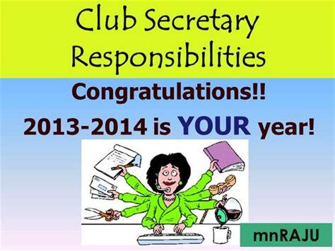 lions club secretary responsibilites   authorstream