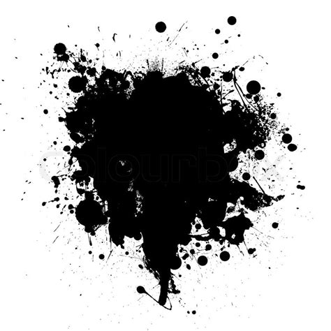 Abstract Black Ink by Abstract Black Ink Grunge Splat With Stock Vector