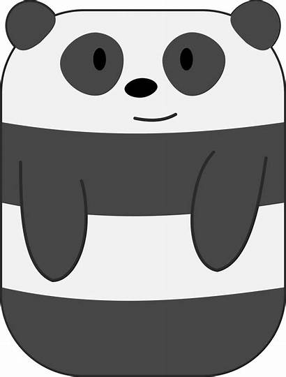 Panda Vector Cartoon Rectangular Clipart Hands Cool