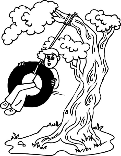 swings coloring pages getcoloringpagescom