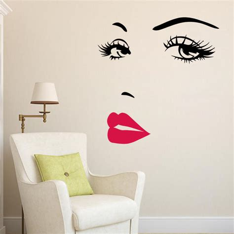 Marilyn Monroe Face Eyes Sexy Red Lip Home Decor Wall