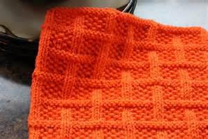 Square Knit Dishcloth Pattern