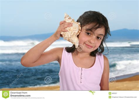 Listening To The Ocean Stock Image Image Of Smile Park
