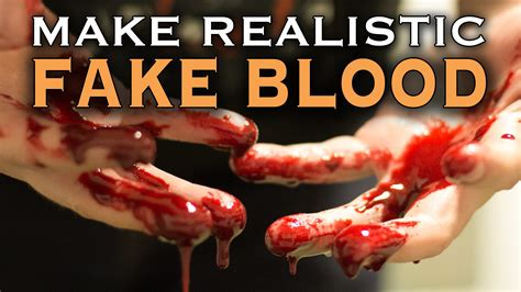 how to make a bloody how to make realistic fake blood in 60 seconds