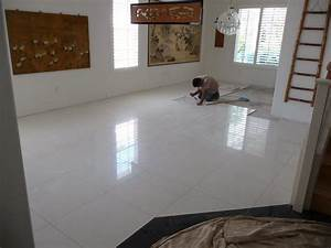 THB Construction: Updating old floor tile with 2ft x 2ft ...