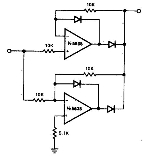 Precision Full Wave Rectifier Circuit Diagram Electronic